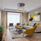 Modern Furniture Of Living Room Interior Scene