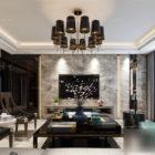 Interior Scene Of Marble Wall Luxury Living Room