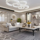 Interior Scene Of European Living Room Luxurious Style