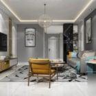 Scandinavian Living Room Interior Scene