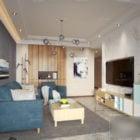 Nordic Modern Living Room Interior Scene