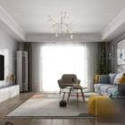 Nordic Living Room Interior Scene