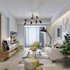 Apartment Interior Scene Living Room Nordic Style