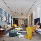 Nordic Apartment Living Room Interior Scene