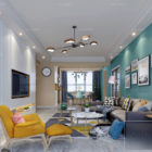 Interior Scene Home Living Room Nordic Style