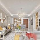 Scandinavian Living Room Interior Scene With Cabinet