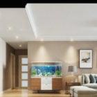 Simple Interior Scene Living Room Scandinavian Furniture