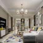 Modern European Interior Scene Living Room Design