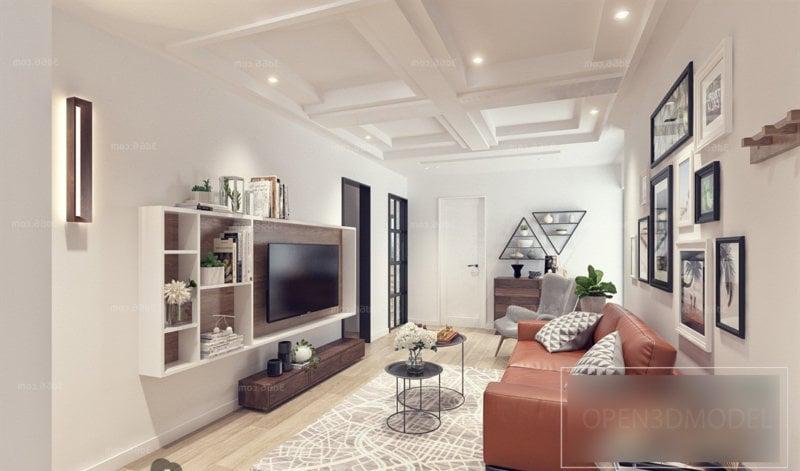 Minimalist Interior Scene Of Living Room