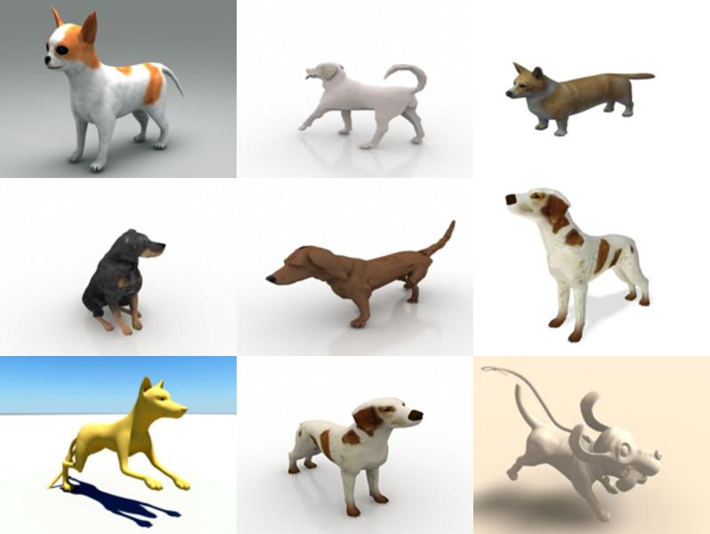 جمع 10 Lowpoly نماذج 3D المجانية للكلاب - الأسبوع 2020-43