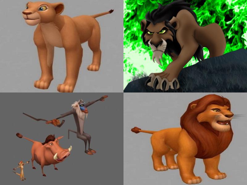 Disney Lion King -hahmojen 3D-mallikokoelma