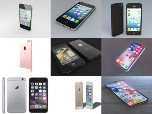 Lataa 10 iPhone ilmaiseksi OBJ 3D Mallit