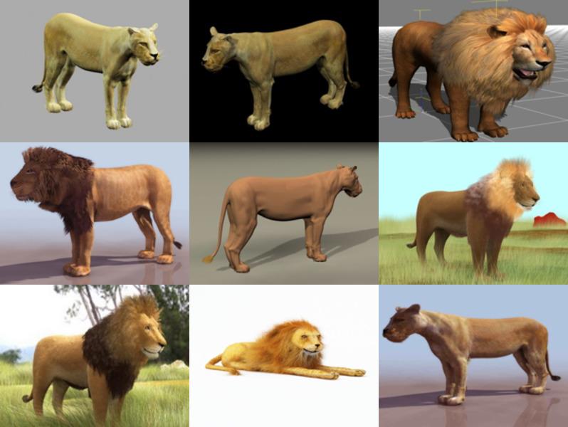 Lataa 9 eläinlionin realistista 3D-mallia - viikko 2020-43