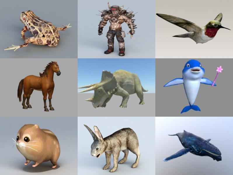 Top 10 animales OBJ Modelos 3D - Semana 2020-42