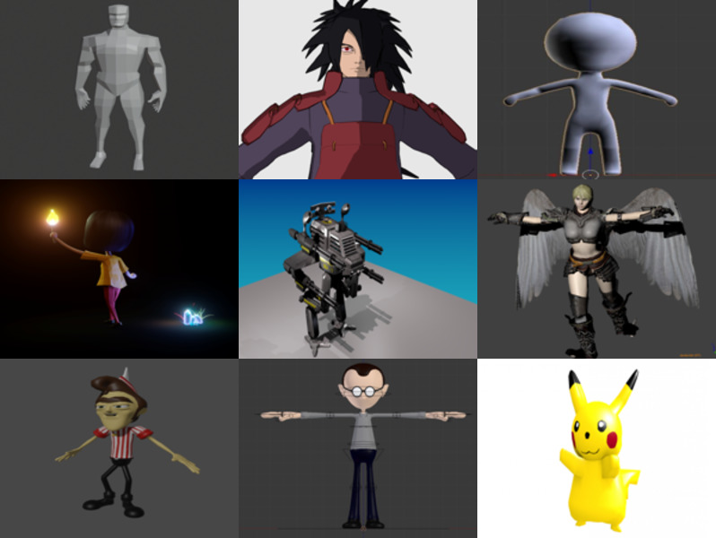 أعلى 10 Blender Character Free 3D Models – Week 2020-43