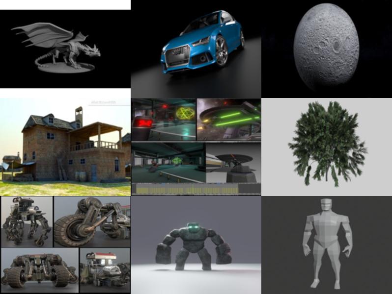 أعلى 10 Blendنماذج ثلاثية الأبعاد مجانية - الأسبوع 3-2020