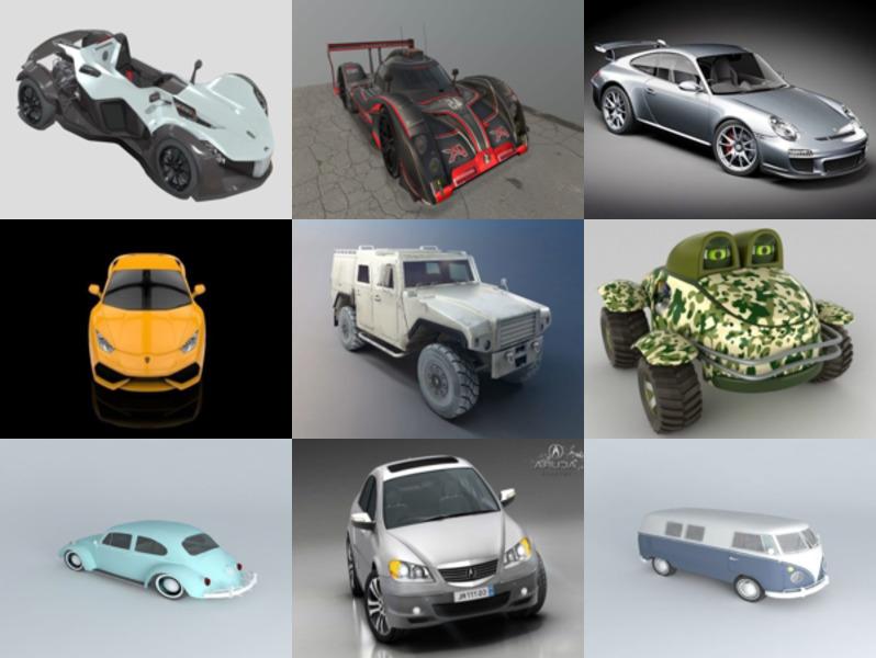 أفضل 10 سيارات OBJ نماذج ثلاثية الأبعاد - الأسبوع 3-2020