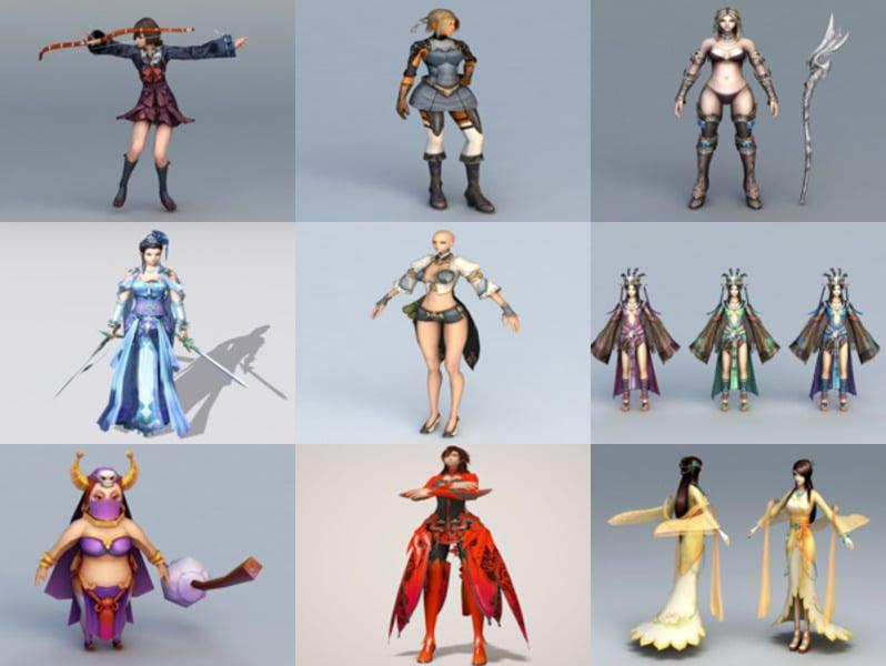 Top 10 Female Character Free 3D Models – Week 2020-43