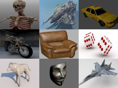 Top 10 ilmaiseksi OBJ 3D-mallit - viikko 2020-40