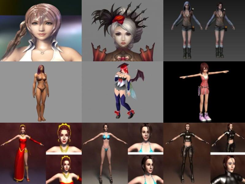 Los 10 mejores modelos 3D gratuitos de personajes femeninos - Semana 2020-43