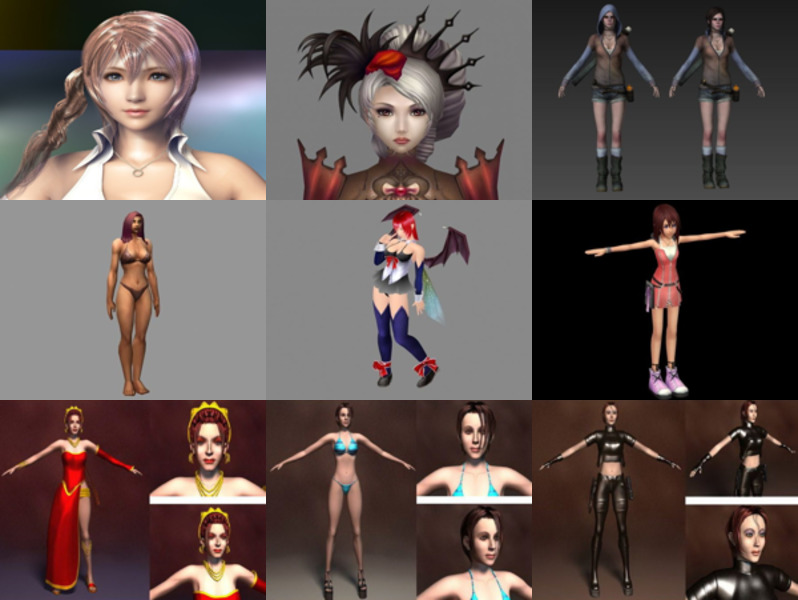 Top 10 Girl Character Free 3D Models – Week 2020-43