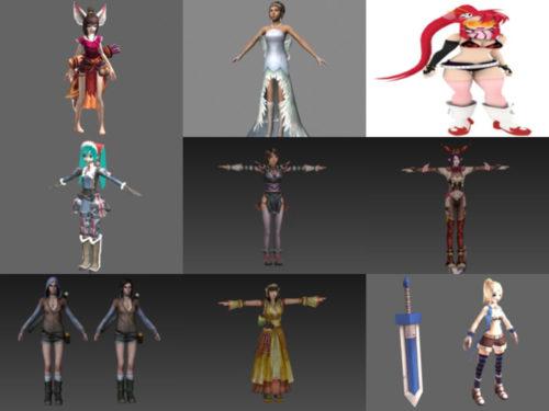أفضل 10 فتيات مجاني OBJ نماذج ثلاثية الأبعاد - الأسبوع 3-2020