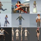 Top 10 Obj Woman 3D Models – Day 22 Oct 2020