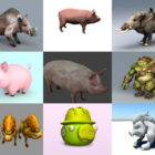 Top 10 Pig 3D Models Collection – Week 2020-44