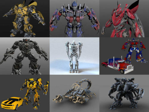 Los 10 mejores modelos 3D sin personajes de Transformers