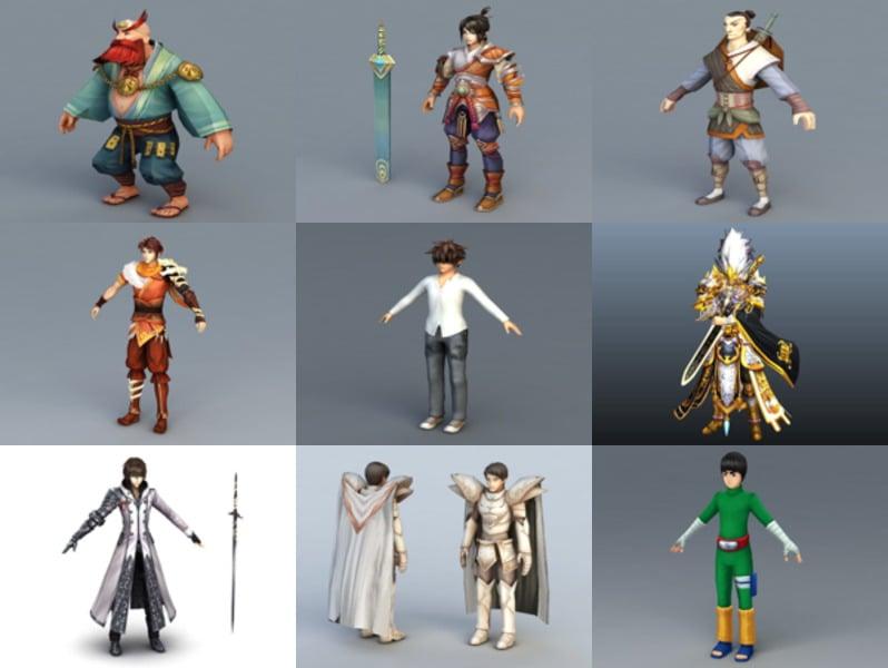 Los 12 mejores modelos 3D gratuitos de Anime Man - Semana 2020-43