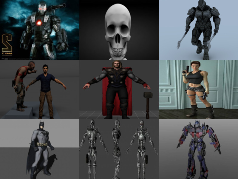 Top 12 Character 3D Models Collection – Week 2020-42
