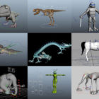 Top 12 Maya Rigged 3D Models – Day 23 Oct 2020