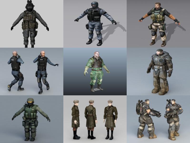 Top 12 Realistic Soldier Free 3D Models – Week 2020-43