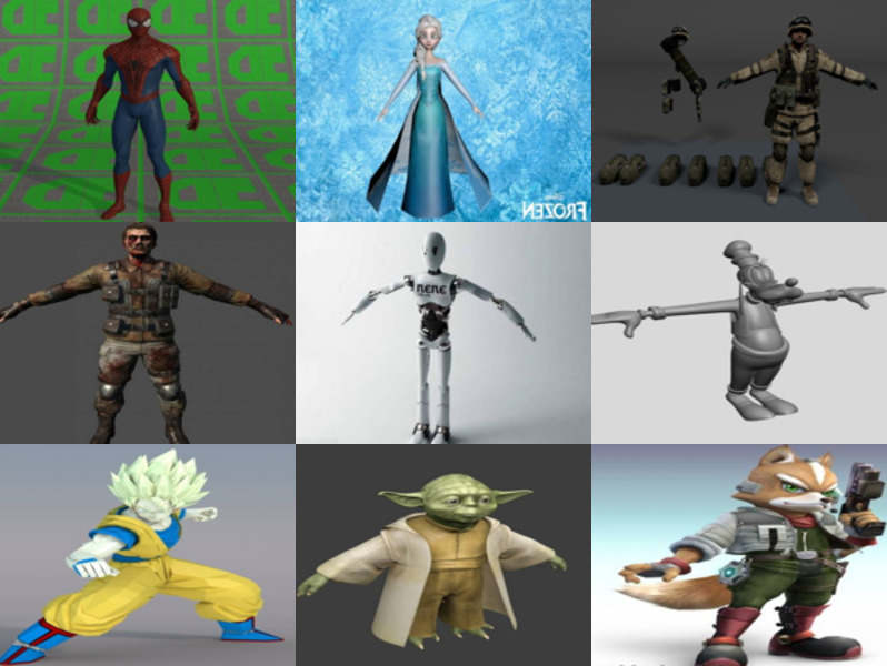 10 Character Free 3D Models Collection – Week 2020-46