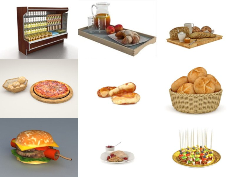 10 Realistic Food Free 3D Models Collection – Week 2020-46