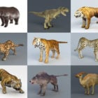 10 Realistic Wild Animal Free 3D Models: Tigers, Lions, Bear, Wolf, Dino