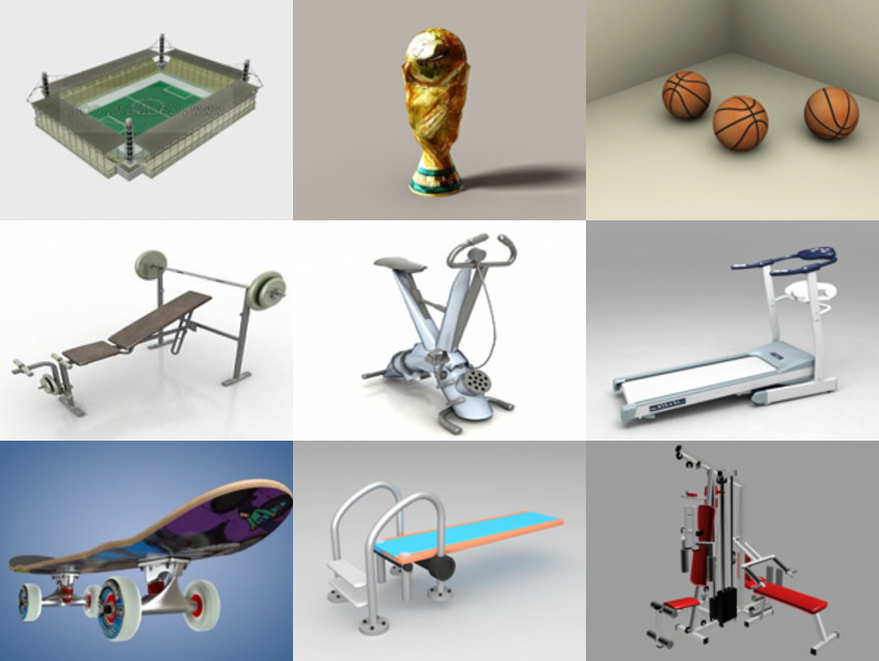 10 Sport Equipment Free 3D Models Collection – Week 2020-46