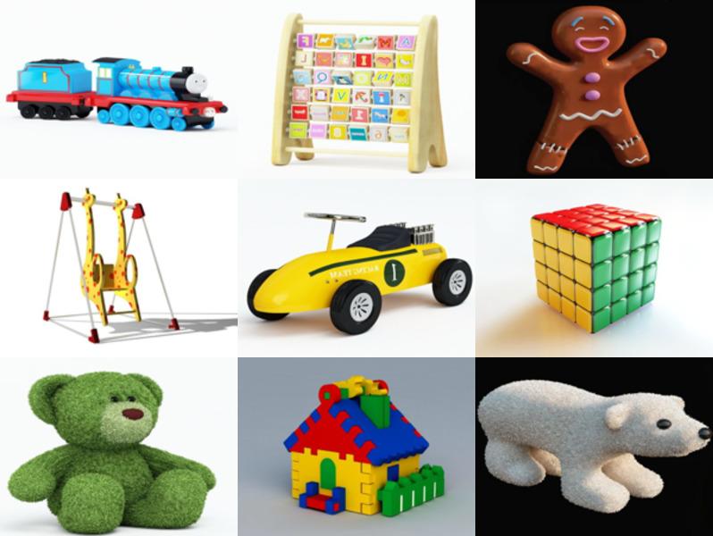 12 Kindergarten Toy Free 3D Models Collection – Week 2020-46