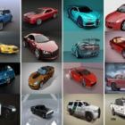 Top 20 High Quality Blender Car Free 3D Models: Sedan, Suv, Sports Car in Realistic Style