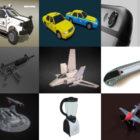 10 bezpłatny Blender Modele 3D: iPhone, samochód, statek kosmiczny, samolot