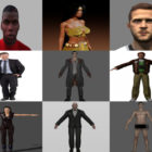 10 Realistic Blender Character Free 3D Models: Beauty Girl, Business Man, Footballer