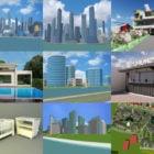 10 Sketchup Darmowe modele 3D: willa, scena miejska, krajobraz, wioska miejska