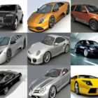 12 wysokiej jakości samochodów za darmo 3ds Max Modele: Lamborghini Murcielago, Porsche 911, Ferrari, Bugatti Veyron, Maybach