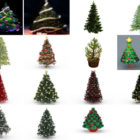 15 Christmas Pine Tree Free 3D Models Collection: Realistic with Decorating