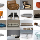 20 Files 3ds Max Furniture Free 3D models: Armchair, Sofa, Coffee Table Modern Design