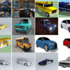 20 Sketchup Car Free 3D Models: Sport Car, Sedan, Bus, Van
