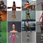 30 High Quality OBJ Character Free 3D Models: Realistic Beautiful Girl, Woman, Female