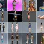 50 Files 3ds Max Character Free 3D Models: Realistic Female, Cute Girl, Beautiful Woman