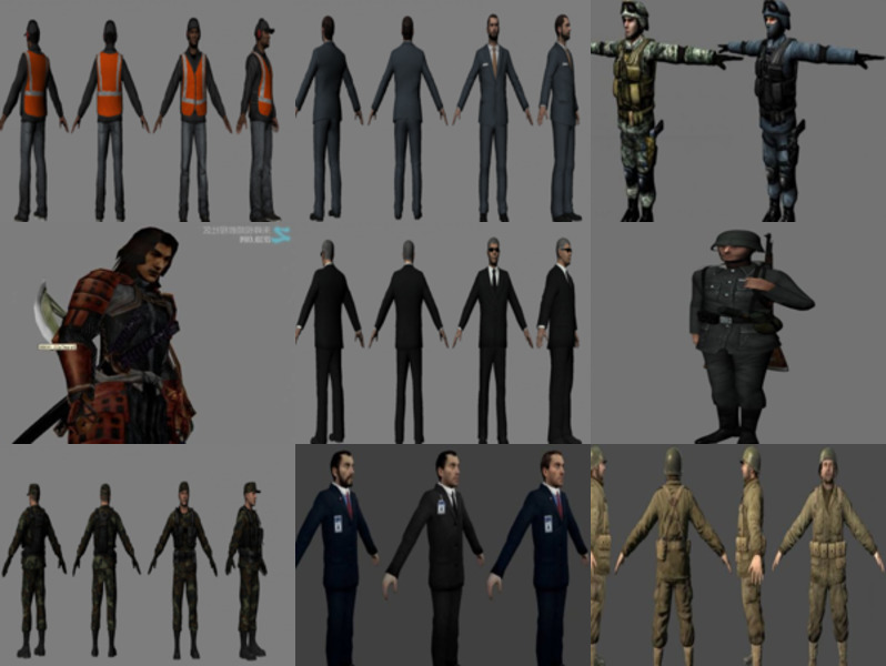Download 10 Realistic Man Character 3ds Max 3D Models: Worker, Boss, Soldier, Warrior