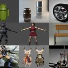 Top 10 za darmo FBX Modele 3D: kobieta, dziewczyna, żołnierz, ławka, dom, broń